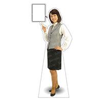 等身大パネル 女性制服(ベスト着用)-A モデル野原奈々 ポーズ:左指差し (62354)