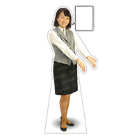 等身大パネル 女性制服(ベスト着用)-A モデル野原奈々 ポーズ:両手右向き (62356)
