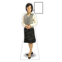 等身大パネル 女性制服(ベスト着用)-B モデル鹿野さくら ポーズ:正面 (62357)