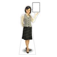 等身大パネル 女性制服(ベスト着用)-B モデル鹿野さくら ポーズ:右向き (62358)