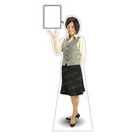 等身大パネル 女性制服(ベスト着用)-B モデル鹿野さくら ポーズ:左向き (62359)
