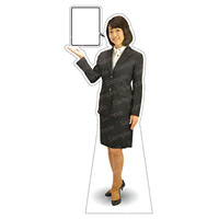 等身大パネル 女性制服(上着着用) モデル野原奈々 ポーズ:左向き (62365)