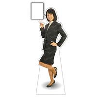 等身大パネル 女性制服(上着着用) モデル野原奈々 ポーズ:左指差し (62366)