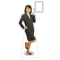 等身大パネル 女性制服(上着着用) モデル野原奈々 ポーズ:右指差し (62367)