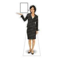 等身大パネル 女性スーツ-B モデル鹿野さくら ポーズ:左指し (62369)