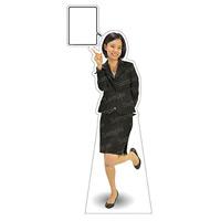 等身大パネル 女性スーツ-B モデル鹿野さくら ポーズ:左指差し (62372)
