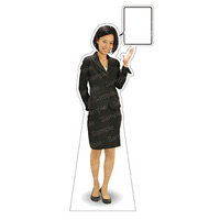 等身大パネル 女性スーツ-B モデル鹿野さくら ポーズ:右向き (62374)