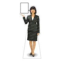 等身大パネル 女性スーツ-A モデル野原奈々 ポーズ:左向き (62388)