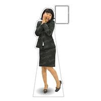 等身大パネル 女性スーツ-A モデル野原奈々 ポーズ:お願い (62390)