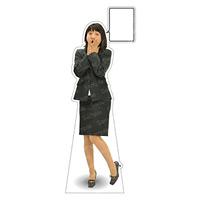 等身大パネル 女性スーツ-A モデル野原奈々 ポーズ:驚き (62391)