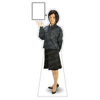 等身大パネル 女性制服(作業着着用)-B モデル鹿野さくら ポーズ:左向き (62393)