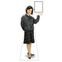 等身大パネル 女性制服(作業着着用)-B モデル鹿野さくら ポーズ:右向き (62394)