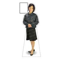 等身大パネル 女性制服(作業着着用)-B モデル鹿野さくら ポーズ:正面 (62395)