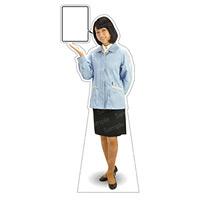 等身大パネル 女性制服(作業着着用)-A モデル野原奈々 ポーズ:左向き (62396)