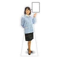 等身大パネル 女性制服(作業着着用)-A モデル野原奈々 ポーズ:右向き (62397)