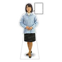 等身大パネル 女性制服(作業着着用)-A モデル野原奈々 ポーズ:正面 (62398)
