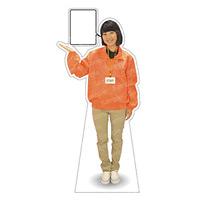 等身大パネル イベントブルゾン(STAFF)-A ポーズ左向き カラー・モデル:オレンジ・野原奈々 (62414)