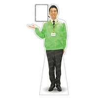 等身大パネル イベントブルゾン(STAFF)-A ポーズ左向き カラー・モデル:グリーン・松岡修 (62417)