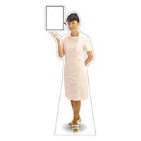 等身大パネル 女性制服(白衣着用)-A モデル野原奈々 ポーズ:左向き (62418)