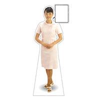 等身大パネル 女性制服(白衣着用)-A モデル野原奈々 ポーズ:正面 (62420)