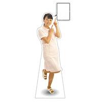 等身大パネル 女性制服(白衣着用)-A モデル野原奈々 ポーズ:右指差し (62423)