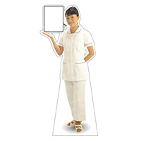 等身大パネル 女性制服(白衣セパレート着用)-A モデル野原奈々 ポーズ:左向き (62424)