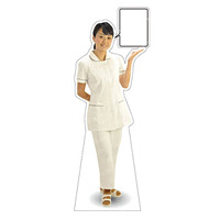 等身大パネル 女性制服(白衣セパレート着用)-A モデル野原奈々 ポーズ:右向き (62425)