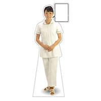 等身大パネル 女性制服(白衣セパレート着用)-A モデル野原奈々 ポーズ:正面 (62426)