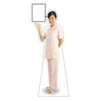 等身大パネル 女性制服(白衣セパレート着用)-B モデル鹿野さくら ポーズ:左向き (62427)