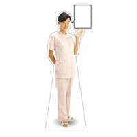 等身大パネル 女性制服(白衣セパレート着用)-B モデル鹿野さくら ポーズ:右向き (62428)