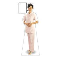 等身大パネル 女性制服(白衣セパレート着用)-B モデル鹿野さくら ポーズ:正面 (62429)