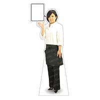 等身大パネル エプロン-C モデル金沢真夢 ポーズ:左向き (62439)