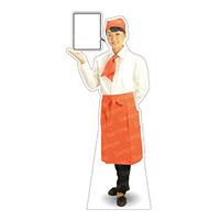 等身大パネル カフェ(オレンジ)-A モデル野原奈々 ポーズ:左向き (62442)