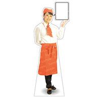 等身大パネル カフェ(オレンジ)-A モデル野原奈々 ポーズ:右向き (62443)