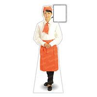等身大パネル カフェ(オレンジ)-A モデル野原奈々 ポーズ:正面 (62444)