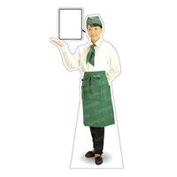 等身大パネル カフェ(グリーン)-A モデル野原奈々 ポーズ:左向き (62445)