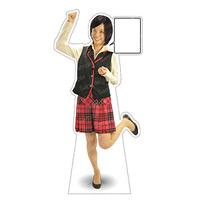 等身大パネル 多目的ユニフォーム-B モデル鹿野さくら ポーズ:ガッツポーズ (62457)