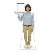 等身大パネル 女性制服(シャツ) モデル野原奈々 ポーズ:左向き (62478)