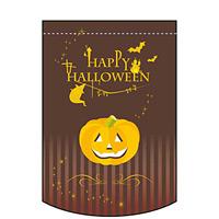 変形タペストリー Happy HALLOWEEN 茶 (63092)