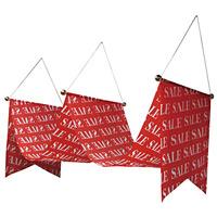 ウェーブペナント SALE 赤 W450×H500×L3000 (63113)