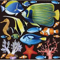 熱帯魚1 看板・ボード用イラストシール