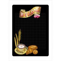 マジカルPOP ウェルカム左下にティーカップとパンの絵柄 サイズ:S (6538)