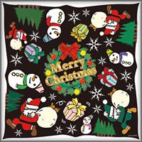 イベント(5) クリスマス 看板・ボード用イラストシール (W285×H285mm)