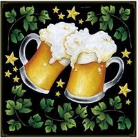乾杯ビール ボード用イラストシール (68537)