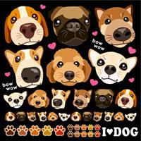 犬の顔 看板・ボード用イラストシール