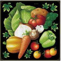 野菜盛り合わせ ボード用イラストシール (68556)