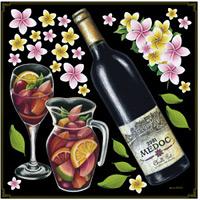 ワイン・サングリア ボード用イラストシール ワインボトル(68565)