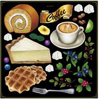 各種ケーキ ボード用イラストシール チーズケーキ(68577)