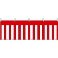 紅白幕柄 販促横幕 W1800×H600mm  (68710)