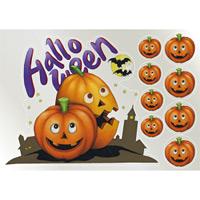 ウィンドウシール 両面印刷 ハロウィン かぼちゃ (6884)